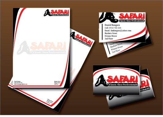 Safari Shoe Professional Corporate Visual Identity Design