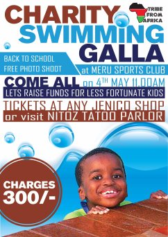 Charity Swimming Poster Design