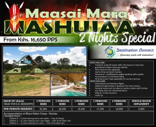 Destination Connect Mashujaa Offers Mailshot Banner Design