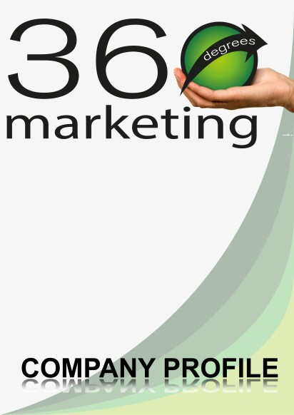360 Degrees Marketing Company Profile Design