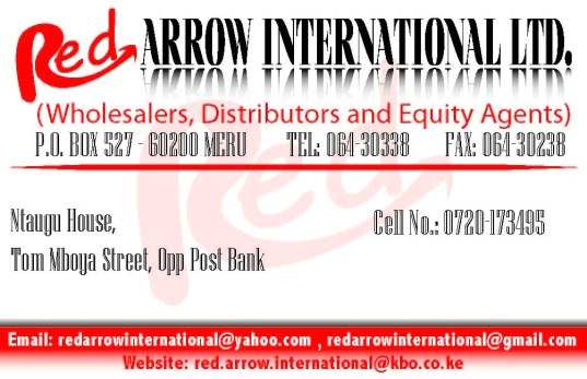 Red Arrow International Business Card Design